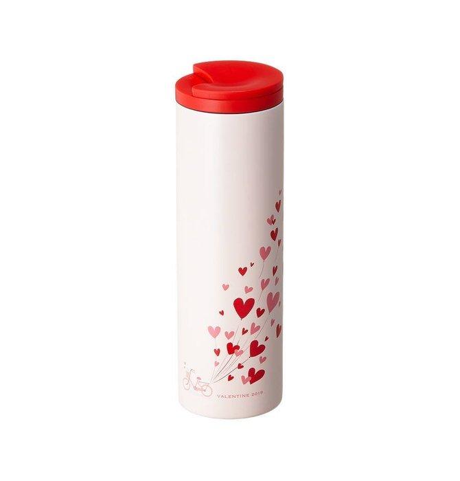 【現貨】韓國星巴克 2019粉色情人節系列--Troy愛心氣球不鏽鋼隨行杯473ml