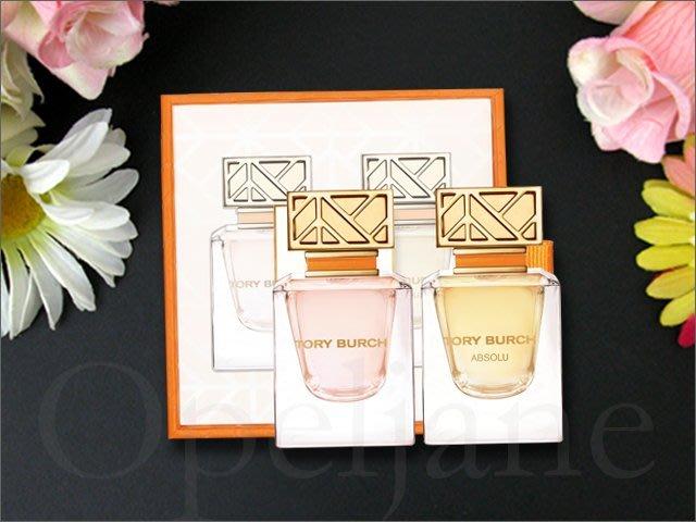 Tory Burch MiNi迷你香水禮盒裝 同名香水淡香精+金緻Absolu 7ml 兩件一組無噴頭 愛COACH包包