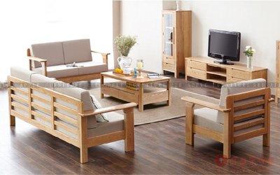 [紅蘋果傢俱]US-L001日式 北歐 實木沙發 布藝沙發 沙發床 沙發