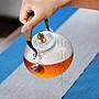 ₴金凱悅㍐煮茶壺耐熱玻璃錘紋提梁壺過濾日式電陶爐錘紋專用家用功夫泡茶