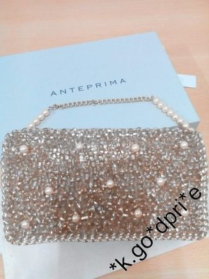 (聖誕及新年再減$300) hk.goodprice 日本直購 Anteprima Wirebag clutch bag 手挽袋 珍珠 bling bling