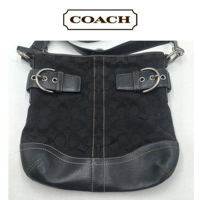 【皮老闆二店】一元起標 無底價 二手真品 Coach 包包 側背包 小包 LOGO 黃933