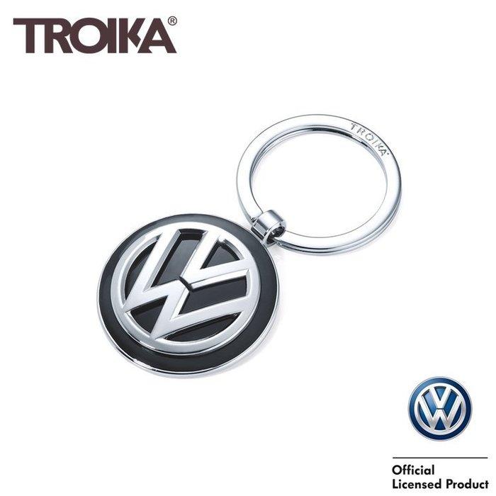 又敗家@德國TROIKA Volkswagen鑰匙圈KR16-05-VW福斯鑰匙圈聯名鑰匙圈經典鑰匙圈德國福斯logo鑰匙圈吊飾汔車鑰匙圈key ring