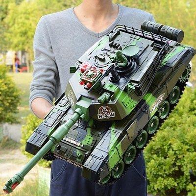 YEAHSHOP 超大號遙控坦克親子對戰可發射充電動兒童越野玩具履帶式男孩汽車772462Y185