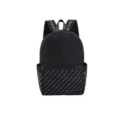 【潮牌館免運】LeSportsac 3426 8266 黑拼LOGO 新款雙肩包