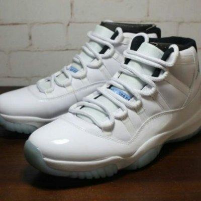 "Nike Air Jordan AJ 11 Retro""Legend Blue""   哥倫比亞 休閒運動 全白 男 台北市"