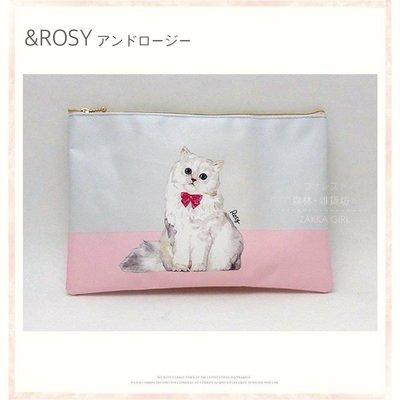 雜誌附錄Rosie可愛貓咪防水大容量收納包