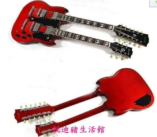 【凱迪豬生活館】雙頭電吉他 雙頭 電吉它 吉他 22品 12弦電吉他 6弦電吉他KTZ-201036