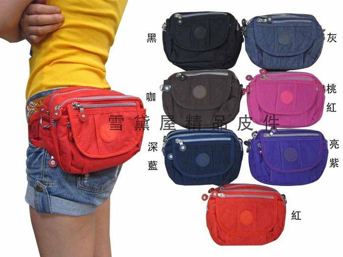 ~雪黛屋~Veiamtino腰包進口專櫃二層主袋隨身二用腰包可腰包肩背斜側超輕量防水尼龍布 A660-035
