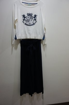 cocodeal 日系品牌針織長褲藍色M