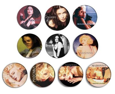 現貨 MADONNA Like A Prayer, Express Yourself pinback BADGE SET 1b 襟章(一套10個)