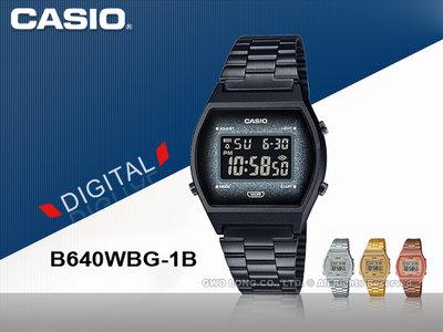CASIO 卡西歐 手錶專賣店 國隆 B640WBG-1B CASIO 電子錶 不鏽鋼錶帶 50米防水 B640WBG
