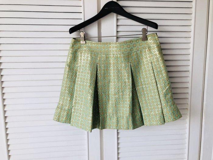 華麗綠金蔥褶裙