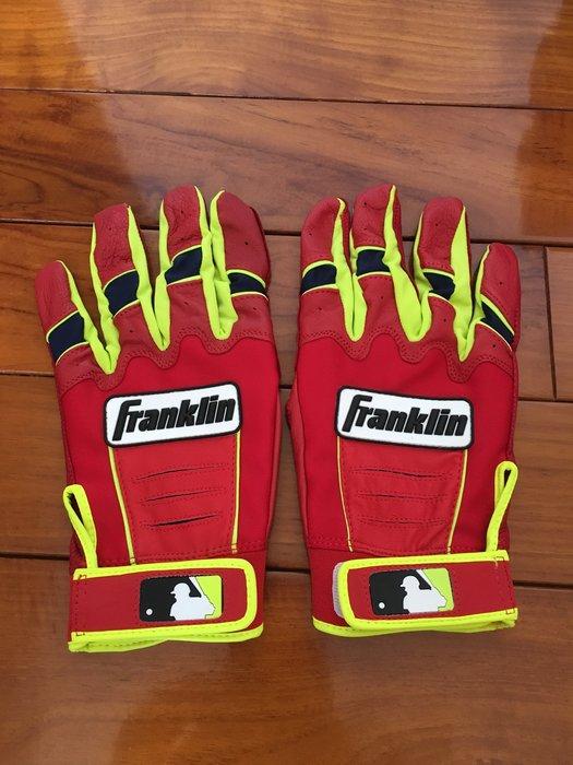 全新 美國帶回 Franklin CFX PRO 紅 螢光綠  MLB 美國職棒大聯盟 棒壘球 打擊手套 Ortiz