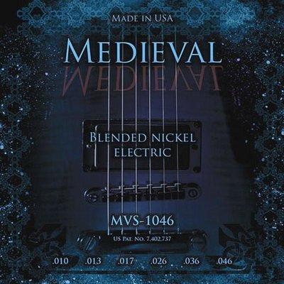 ☆ 唐尼樂器︵☆ Kerly Strings Medieval 中世紀系列冰火弦 MVS-1046 (10-46) 美製電吉他弦