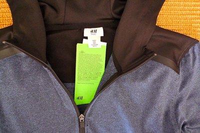 瑞典H&M日本版:彈纖連帽運動外套*/ * 超特惠 650 元 !!
