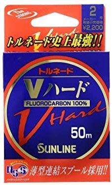 ❖天磯釣具❖10號 新款 日本SUNLINE V-HARD 卡夢 超強力 碳纖子線 50m (另供應其它規格)
