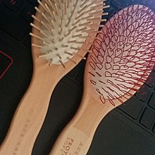 ACCA KAPPA 意大利 皇牌尼龍環形按摩髮刷 Nylon Looped Bristles Hair Brush 山毛櫸木 手感輕巧 血液循環