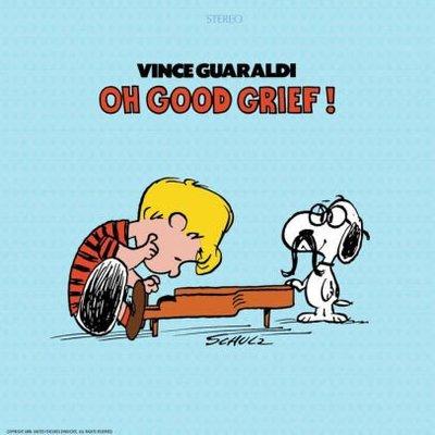 PEANUTS SNOOPY Oh,Good Grief!史奴比五十周年紀念透紅膠唱片黑膠唱片