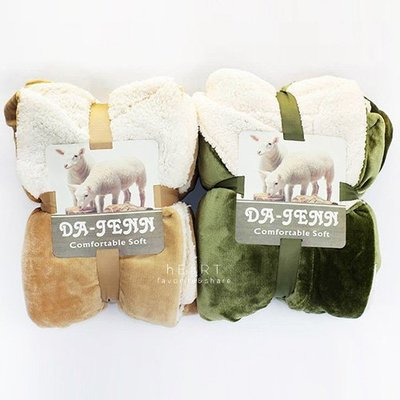 【可愛村】 (限宅配)加厚雙面羊羔絨素色保暖毯 145x200cm 毛毯 保暖毯子 被子
