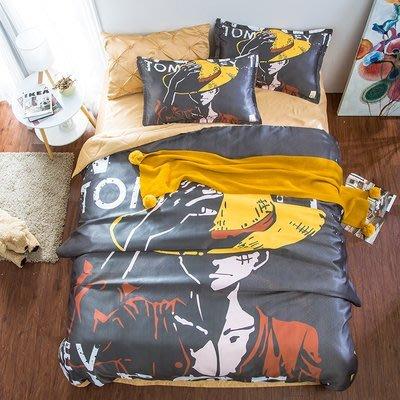 [涼被床包] 海賊王卡通春夏空調被水洗棉床包4件組(被套+床單+枕套) 平價潮流 日本經典路飛魯夫 onepeice