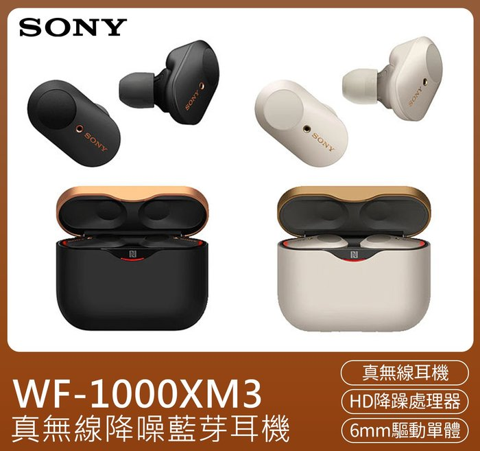 SONY🔥 真無線降噪藍芽耳機WF-1000XM3-入耳式/耳塞式/耳道式/觸控通話/音樂撥放/自動感應器