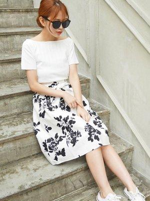 日本代購 花露米。花rumi in JP 日本知名品牌 roomy 玫瑰花印花裙 特價