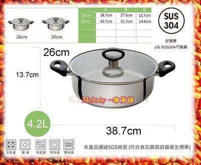 BUFFALO牛頭牌新小牛團圓火鍋26cm【最新版】304不鏽鋼 湯鍋 強化玻璃蓋  公司貨 小家庭專用