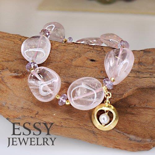 《玥心精品》清新透亮【粉晶/紫晶】原礦手鍊 - Essy Jewelry
