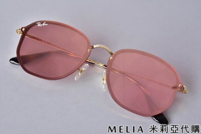 Melia 米莉亞代購 商城特價 每日更新 19ss Ray Ban RB3579 切邊太陽眼鏡 墨鏡 金框 粉鏡