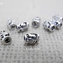 ☆ 惡魔小熊 手創 925銀飾批發 ☆ 925純銀 DIY材料 葉子珠 配件 單顆