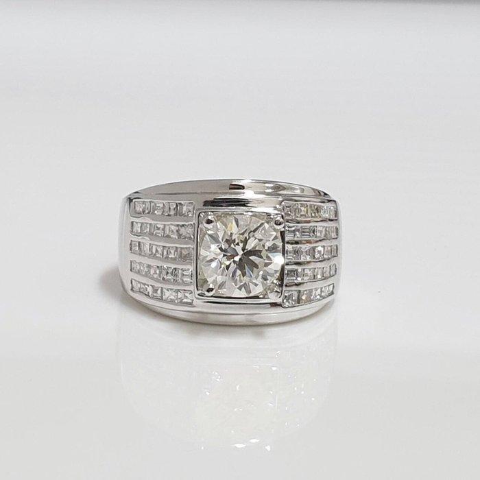 送禮禮物禮品 全新品 GIA鑽石男戒 主石 2.01克拉 完美車工 8心8箭 585K金鑽石戒台 大眾當舖 編號5948