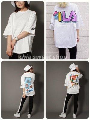 ☆Chia sweet shop☆現貨日本湘南插畫家SHETA FILA聯名款夏日限定塗鴉棉質寬鬆短袖上衣 t恤