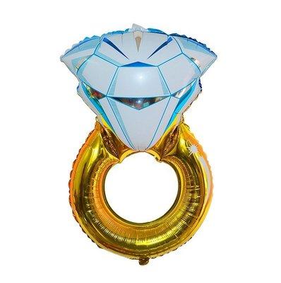 【♥豪美禮品館♥】求婚道具 求婚氣球 鑽石氣球 鑽石戒指氣球 大戒指氣球 大鑽戒氣球 求婚佈置道具 超大戒指裝飾背景
