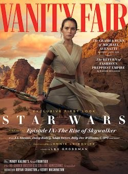 星球大戰9天行者的崛起 Star Wars The Rise of Skywalker 封面 2019年SUMMER VANITY FAIR 雜誌 訂