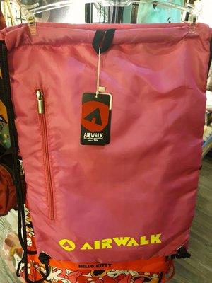 雙面背束口袋背包air walk正版