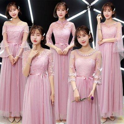 ZIHOPE 伴娘禮服 伴娘服長款姐妹團禮服女韓版閨蜜裝中式結婚活動禮服顯瘦ZI812