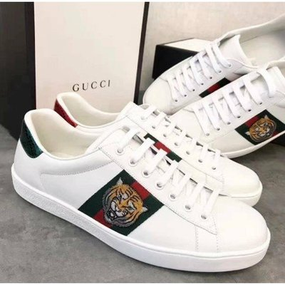 """Gucci Ace leather 小白鞋  Gucci """"New Ace"""" leather low-top sneak"""