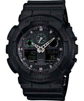 【東洋商行】免運 CASIO 卡西歐 G-SHOCK 經典霸主雙顯錶-黑(限量) GA-100MB-1ADR 手錶 電子