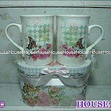 *︵House傢飾︵*骨瓷對杯~C(附精美禮盒)【☆限量款/新發售☆】