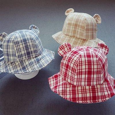 漁夫帽 貝雷帽 棒球帽 兒童帽子兒童寶寶帽子漁夫帽春款寶寶耳朵盆帽新款盤帽寶寶帽子3個月-1歲