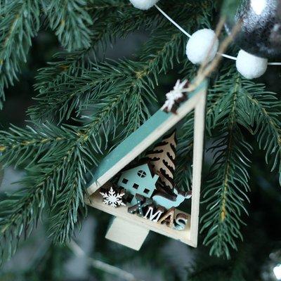 韓國風聖誕裝飾品INS風聖誕樹木掛件禮品擺件北歐森系自然系聖誕