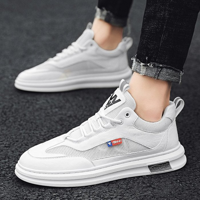 TIME&NES~男鞋2020春季新款白色運動休閒鞋正韓透氣男士板鞋網面夏季潮鞋男