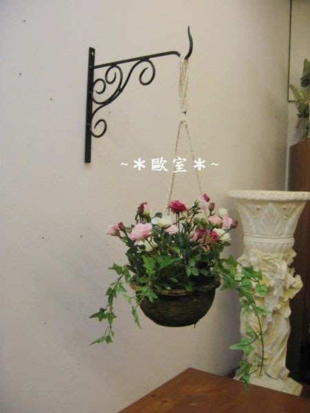 ~*歐室精品傢飾館*~人造花~玫瑰花吊式盆栽(3款)~新品上市~