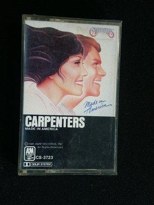 錄音帶/卡帶/AC95/英文/木匠兄妹Carpenters /made in america /齊飛/非CD非黑膠
