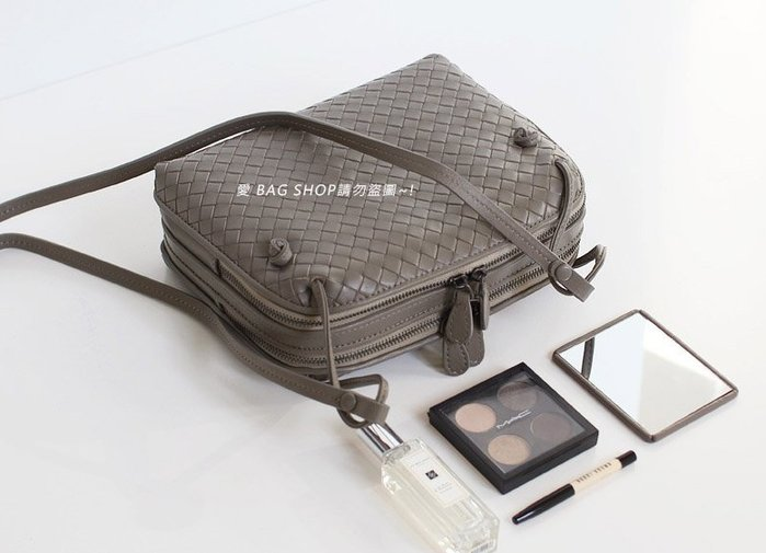 愛 BAG SHOP 韓國精品包 WHOABAG 官網  nappa 小羊皮 雙拉鍊 編織 BV 方包 4580 現貨