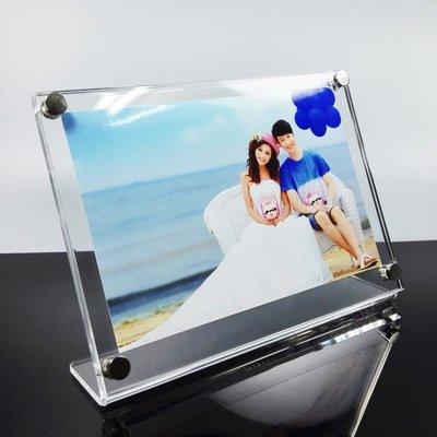 新品簡約亞克力輕奢個性擺臺高檔水晶相框6寸7寸8寸