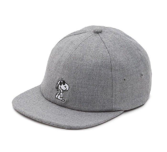 { POISON } VANS x PEANUTS JOCKEY HAT JOE COOL 刺繡老帽 後扣棒球帽 灰