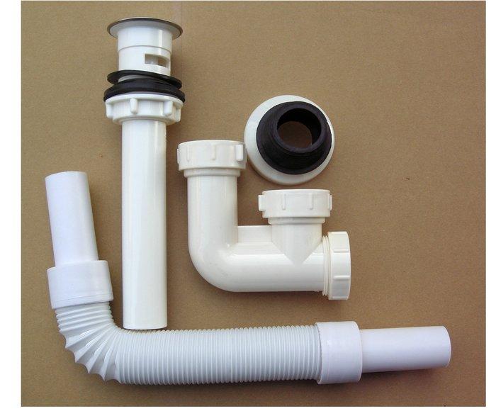 2214-4 台灣製造 面盆排水組 按壓式排水管+地排(S管).壁排(P管)通用管 規    格:國內通用(美