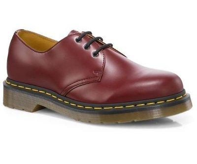 Dr.Martens 馬丁鞋 經典1461 3孔  櫻桃紅 硬皮 【 BRITISH LOOK 】